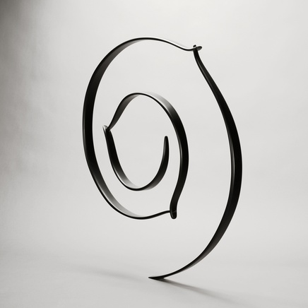 Circling In, Black Coated Carbon Fibre, 2013