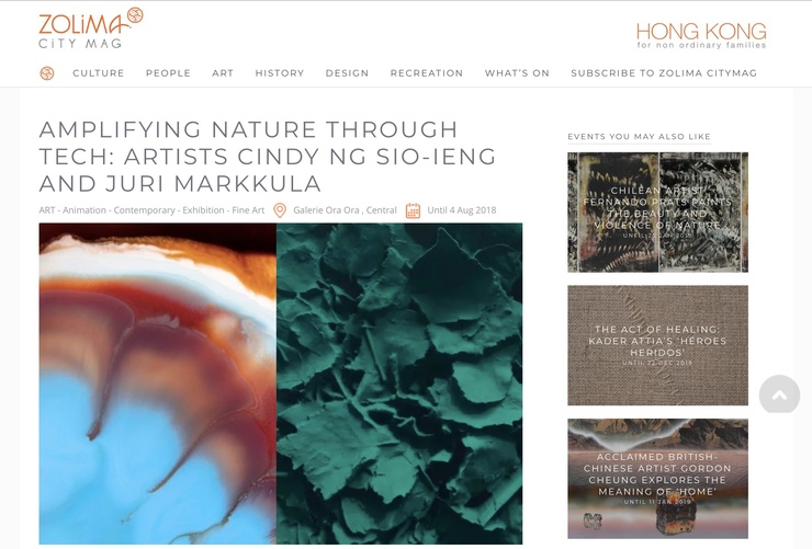 Amplifying Nature Through Tech: Artists Cindy Ng Sio-Ieng and Juri Markkula