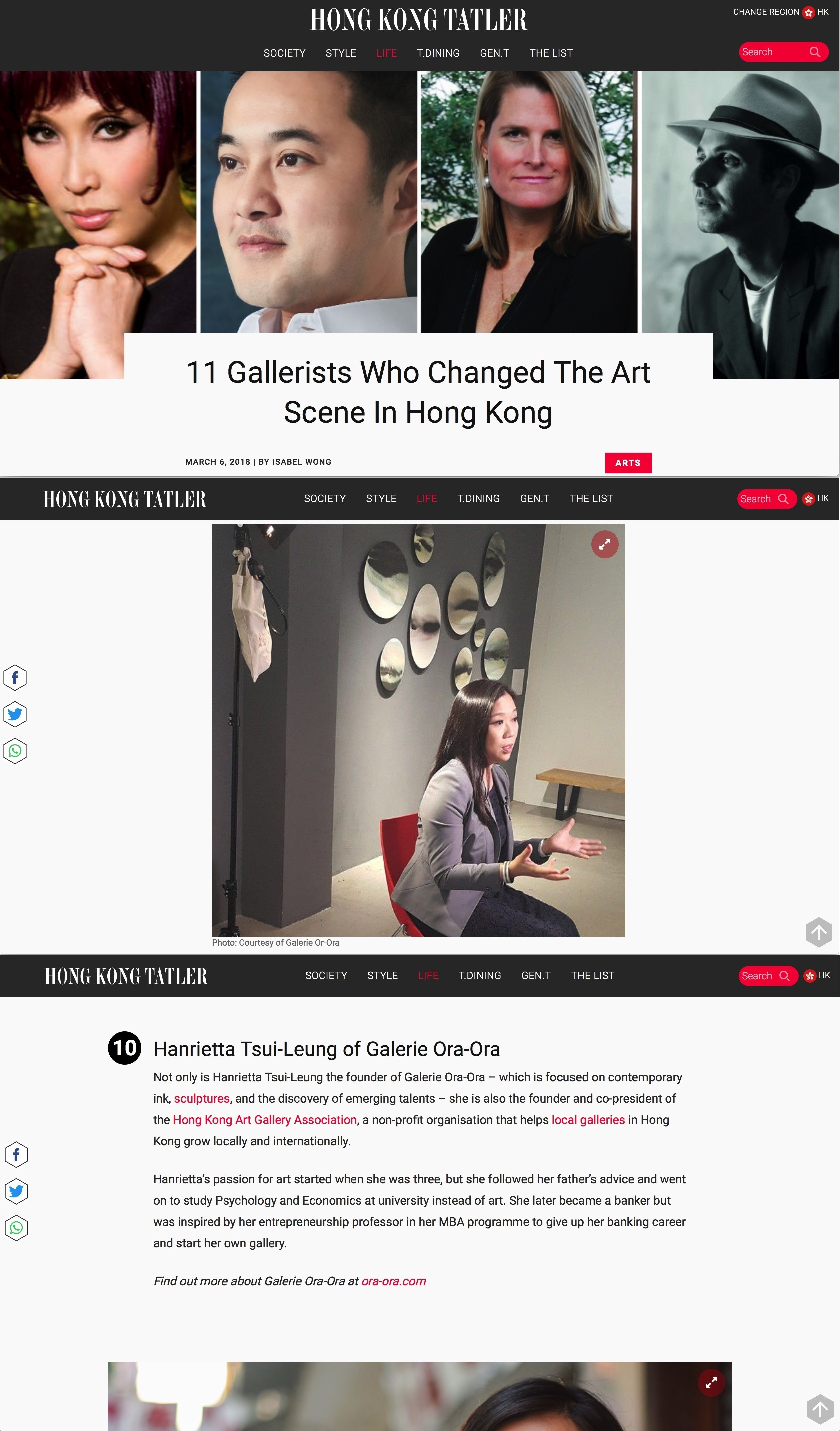 11 Gallerists Who Changed The Art Scene In Hong Kong | Galerie Ora-Ora